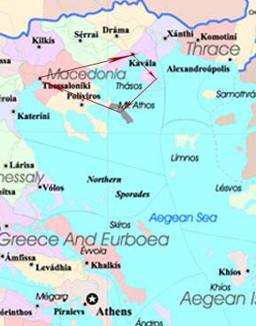 Greece map tour